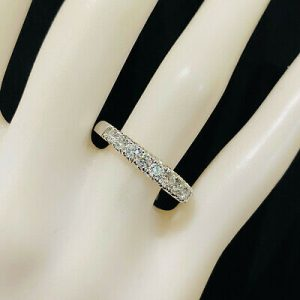 Platinum, PT950 Diamond VVS1 0.80ct half eternity, anniversary, wedding ring
