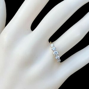 Art Deco 18ct/18k, 750 Gold & Platinum Diamond 0.55ct five stone engagement ring