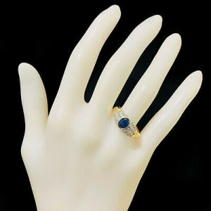 Lovely, Vintage 9ct, 9k, 375 Sapphire and Diamond dress, statement ring