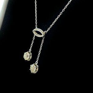 Stunning, Art Deco, Sterling Silver paste, riviera necklace, Circa 1930