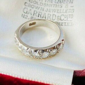 18ct/18k 750 white gold, Diamond 1.20ct half eternity, anniversary, wedding ring