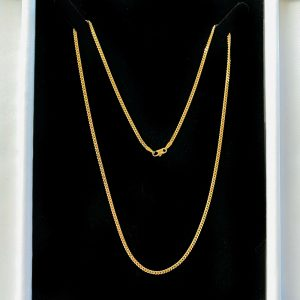 """Lovely, Vintage 9ct, 9k, 375 yellow Gold curb link chain, length 20"""" / 51cm"""