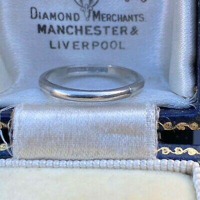 Art Deco platinum stacker, wedding band, ring, Circa 1935-45