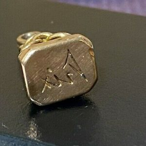 Victorian 15ct, 15k, 625 Rose Gold pocket watch chain fob/pendant, Circa 1880