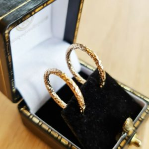 Pretty pair of 9ct, 9k, 375 Gold, round hoop Earrings, 18.5mm, fully hallmarked.7