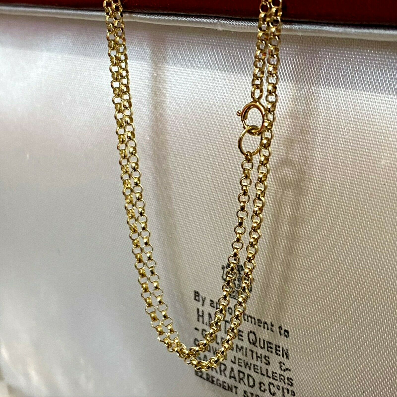 """Lovely, Vintage 9ct, 9k, 375 Gold rolo link chain, length 20"""" / 51cm"""