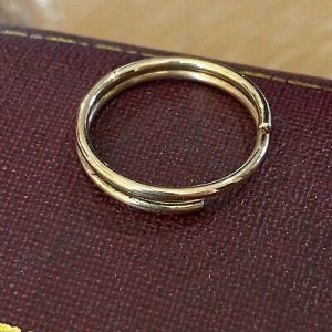 Handmade 9ct, 9k, 375 Gold split ring, jump ring, charm connector, 18.3 x 2.5mm