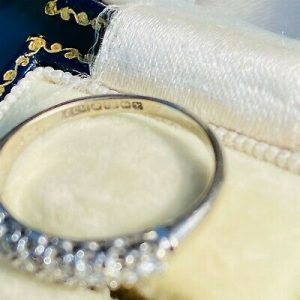 RESERVED - Vintage 18ct, 18k, 750 Gold, Diamond half eternity, anniversary, stacking ring