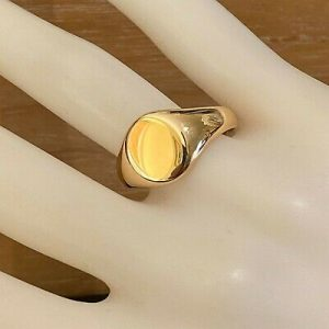 Art Deco 18ct, 18k, 750 yellow Gold, solid Gents Signet ring, Date 1919