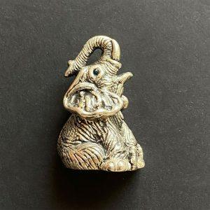 Vintage, Sterling Silver, Baby Elephant ornament, figurine, 14.2grams