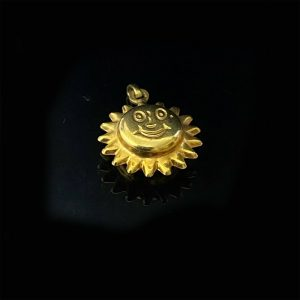 Wonderful, Vintage 9ct, 9k, 375 yellow gold smiling sun charm, pendant