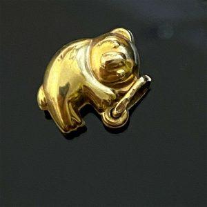 Cute, Vintage 9ct, 9k, 375 yellow gold koala bear charm, pendant