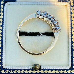 Antique Edwardian 18ct, 18k, 750 Gold Diamond 0.50ct Five Stone Ring, Circa 1905