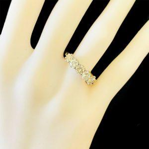 Fabulous, 18ct, 18k, 750 Gold Diamond 1.40ct Five Stone engagement ring