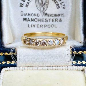 Gorgeous 18ct/18k 750 gold, Diamond, half eternity, anniversary, stacker ring