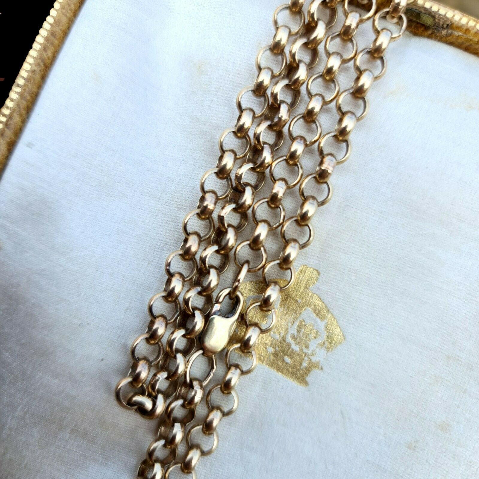 """Solid 9ct, 9k, 375 yellow Gold belcher link chain, necklace. Length 22.5"""", 57cm"""