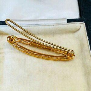 Rare, Art Deco 9ct, 9k, 375 yellow gold hair clip, barrette, hair slide, 1935