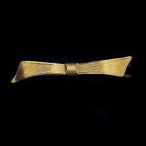 Rare, Art Deco 9ct, 9k, 375 yellow gold hair clip, barrette, hair slide 1935