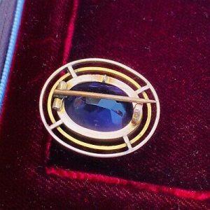 Stunning, Victorian 15ct, 15k, 625 Rose Gold Amethyst (13.00 ct) brooch, C1880