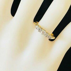 Victorian 18ct, 18k, 750 Gold Diamond 0.28ct Five Stone engagement ring, C1900