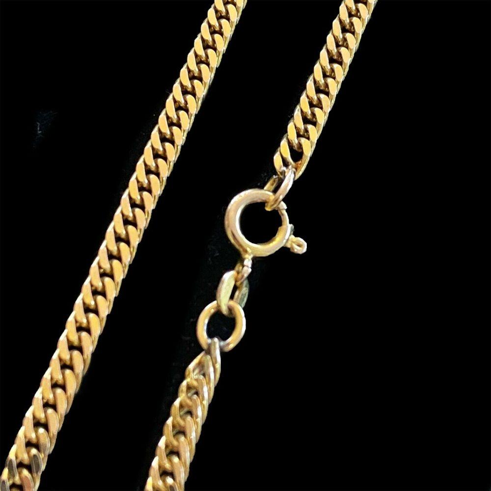 "Vintage 9ct, 9k, 375 Gold double curb link chain, length 18.5"" / 47cm, 15g"