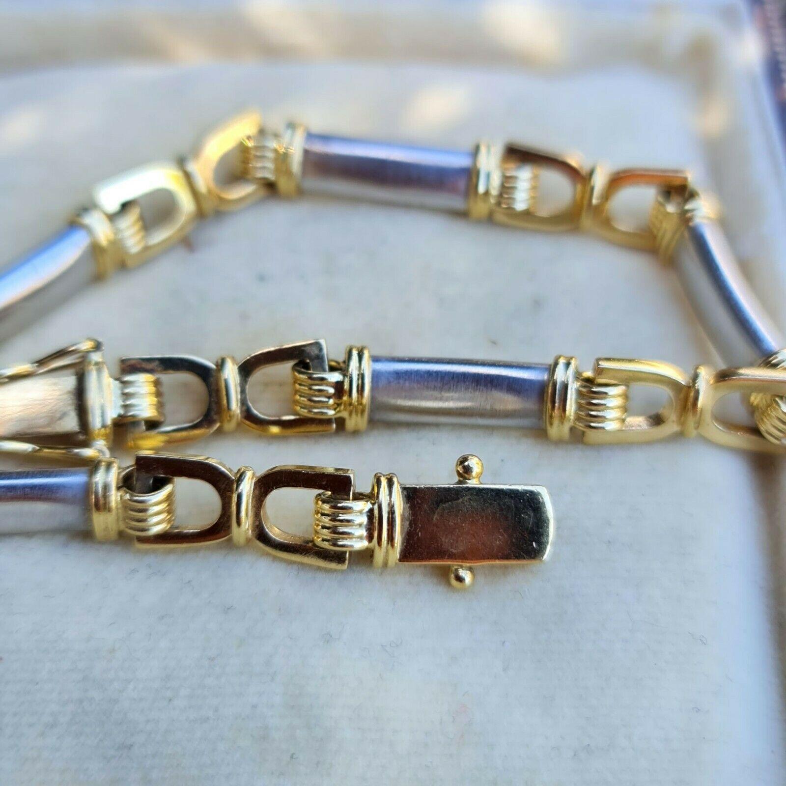 Fabulous, 18ct, 18k, 750 two-colour Gold, equestrian themed bracelet, 20.1 grams