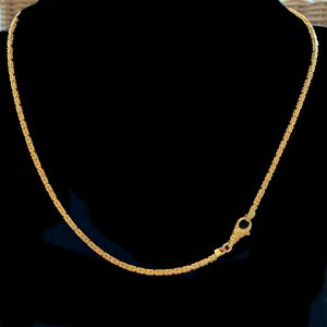 "Vintage 9ct, 9k, 375 Gold byzantine link chain, length 19.75"" / 50.5cm, 14.6g"