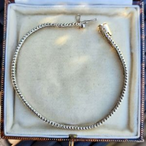 Vintage 9ct, 9k, 375 tri-colour Gold brick link bracelet, weight 10 grams, C1980