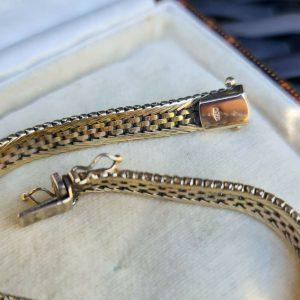 Vintage, 9ct, 9k, 375 tri-colour Gold bracelet, weight 15.8 grams, Circa 1980