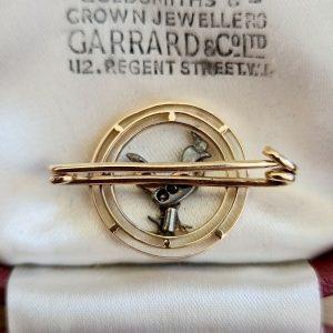 Edwardian 15ct/15k, 625 Gold & Silver, Diamond & Ruby, Cockerel, Rooster brooch