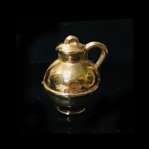 Vintage 9ct, 9k, 375 yellow gold, Milk churn jug charm, Maker EFC dated 1959