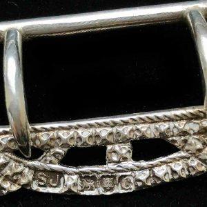 Antique Victorian, Sterling Silver buckle, London 1898, maker SJ (Samuel Jacobs)