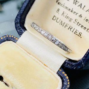 Antique, Platinum Diamond 0.66ct full eternity, anniversary ring, Circa 1920. Size UK: O 1/2 USA 7.5