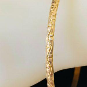 Vintage 9ct, 9k, 375 solid, Rose Gold bangle, stacking bracelet, 6.4cm diameter
