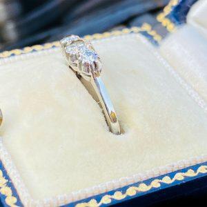 Platinum & 18ct White gold Diamond (0.30ct) three Stone, Trilogy Engagement Ring