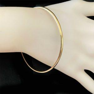 Vintage, 9ct, 9k, 375 solid Gold bangle, stacking bracelet, 7cm wide