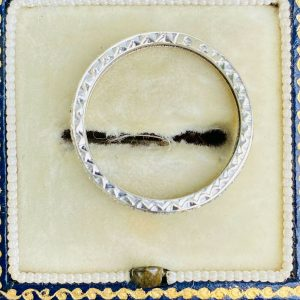 Art Deco 9ct, 9k White gold, Full diamond Eternity, anniversary, wedding ring