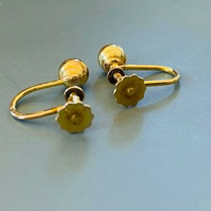 Classic pair of 9ct, 9k, 375 Gold ball 5.5mm Earrings with screw fittings