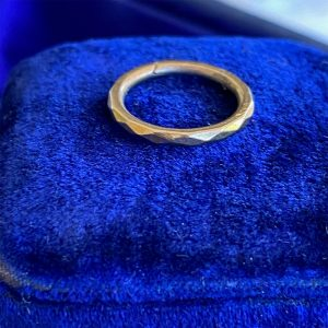 Georgian 15ct, 15k, 625 Gold faceted split, jump ring, charm connector, 14.2mm