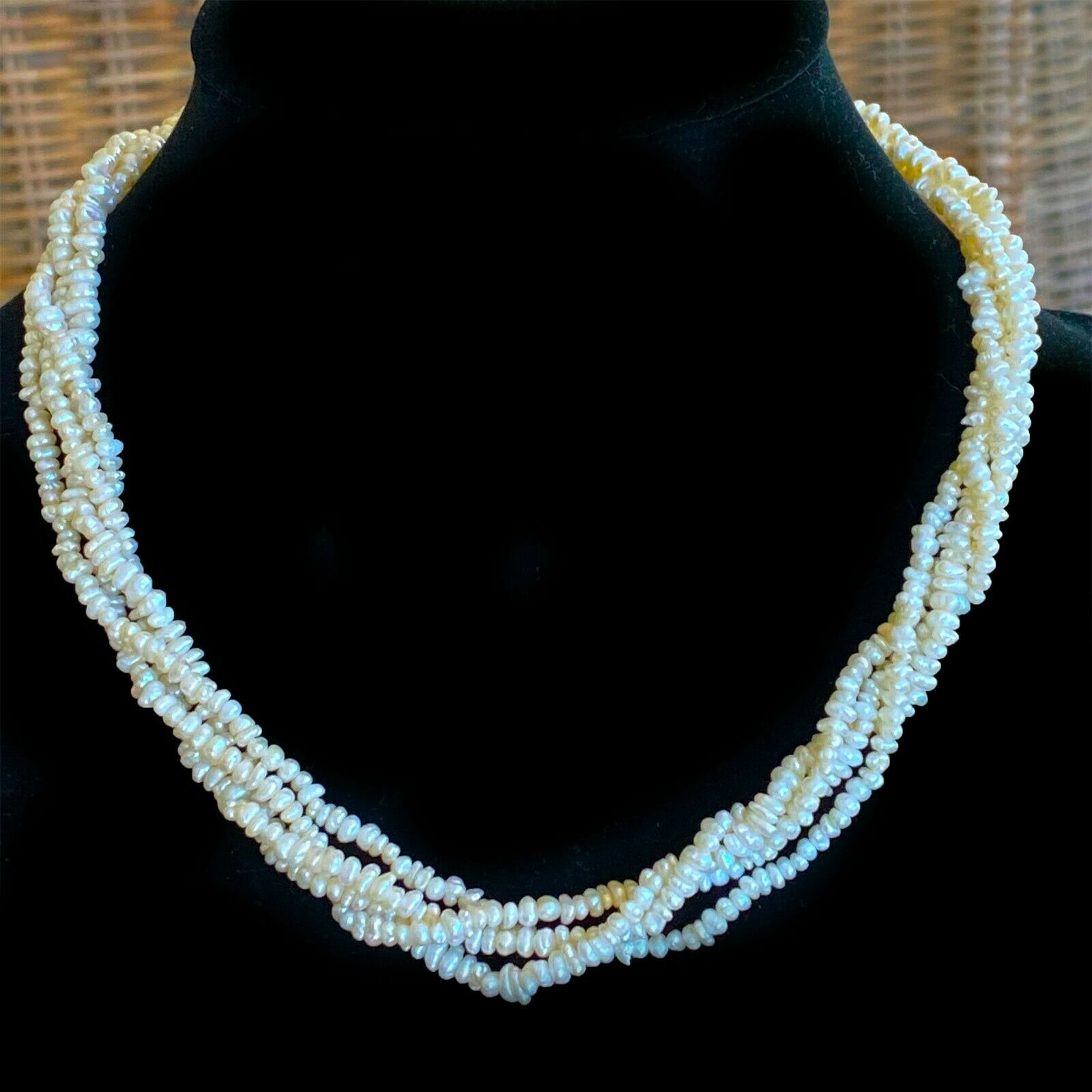 """Chunky river pearl, rope necklace on 14ct gold clasp, Length: 15.5"""" / 39.5cm"""
