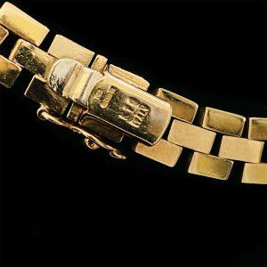 """Gorgeous 9ct, 9k, 375 bi-colour Gold, brick link, solid chain, necklace - 16.5"""""""