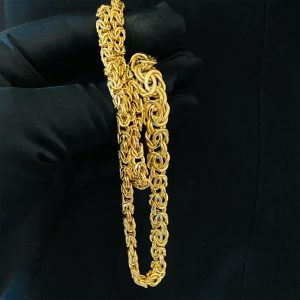"Fabulous, 9ct, 9k, 375 Gold bismark link graduated chain, necklace - 20"", 14.8g"