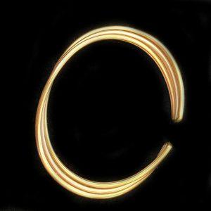 Fabulous, 18ct, 18k, 750 tri-colour Gold bangle, bracelet, weight 22.9 grams