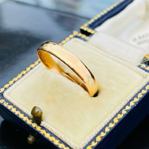 Vintage 22ct, 22k, 980 solid yellow gold wedding ring, Birmingham 1959-1960