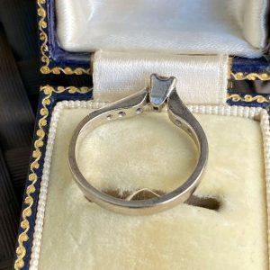 18ct/18k, 750 White Gold, Princess-cut Diamond 0.51ct Solitaire engagement ring