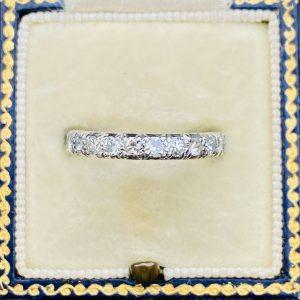 Platinum, PT970 Diamond 0.60ct half eternity, anniversary, wedding ring