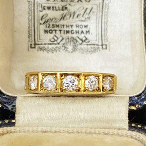 Fabulous, Vintage 18ct Gold Diamond 0.66ct Eternity, wedding Ring, London 1978
