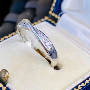 Stunning, Platinum, PT950 Diamond crossover, eternity, anniversary, wedding ring
