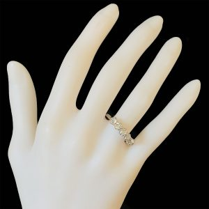 Edwardian 18ct, 18k, 750 white Gold Diamond 1.15ct Five Stone Ring, Circa 1901