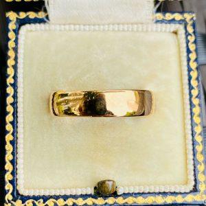Edwardian 22ct, 22k, 980 solid yellow gold wedding ring, band, Birmingham 1910